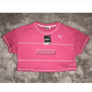 PUMA Women Modern Sports Cropped Tee Fuchsia Large